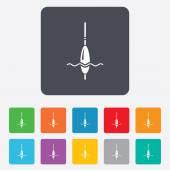 Fishing sign icon. Float bobber symbol. — Stock Vector