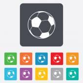 Football ball sign icon. Soccer Sport symbol. — Wektor stockowy