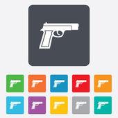 Gun sign icon. Firearms weapon symbol. — Stockvector