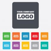 Logo sign icon. Place for logotype. — Stock Vector