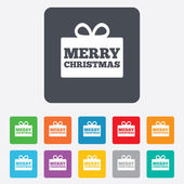 ícone de sinal de presente de feliz natal. símbolo presente. — Vetor de Stock