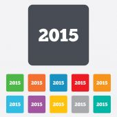 Šťastný nový rok 2015 ikona podepsat. kalendářní datum. — Stock vektor