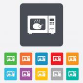 Microwave oven sign icon. Kitchen electric stove — Stockvector