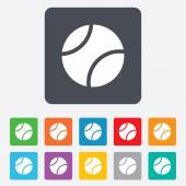 Tennis ball sign icon. Sport symbol. — Stock Vector