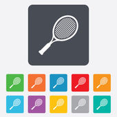 Tennis racket sign icon. Sport symbol. — Wektor stockowy