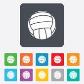 Ikona znak w piłce siatkowej. plaża sport symbol. — Wektor stockowy