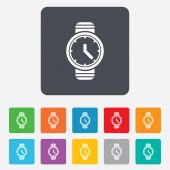 Wrist Watch sign icon. Mechanical clock symbol. — Wektor stockowy