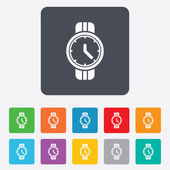 Wrist Watch sign icon. Mechanical clock symbol. — Stock Vector