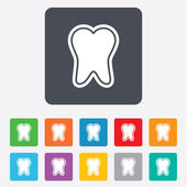 Tooth enamel protection sign icon. Dental care symbol. — Stok Vektör