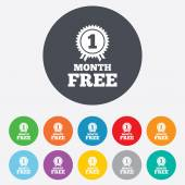 First month free sign icon. Special offer symbol — Wektor stockowy