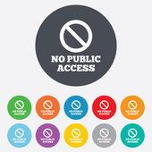 No public access sign icon. Caution stop symbol. — Stockvektor