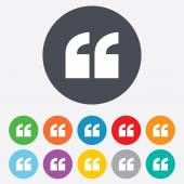 Quote sign icon. Quotation mark symbol. — Stock Vector