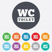 WC Toilet sign icon. Restroom symbol. — Vector de stock