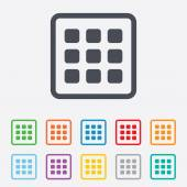 Thumbnails grid icon. Gallery view symbol. — Stockvector