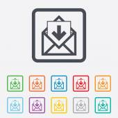 Mail icon. Envelope symbol. Inbox message sign. — Stock Vector
