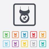 Zwangere vrouw shirt teken pictogram. moederschap symbool — Stockvector