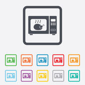 Microwave oven sign icon. Kitchen electric stove — Stock Vector