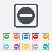 ícone de sinal de subtração. símbolo negativo. — Vetorial Stock