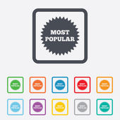 Most popular sign icon. Bestseller symbol. — Stockvektor