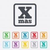 Happy new year sign icon. Xmas symbol. — Stock Vector