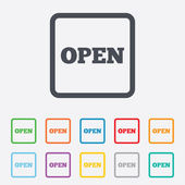 Open sign icon. Entry symbol. — Stock Vector