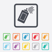Graffiti spray can sign icon. Aerosol paint. — Stock Vector