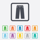 Mens jeans or pants sign icon. Clothing symbol. — Stock Vector