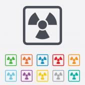Radiation sign icon. Danger symbol. — Stockvektor