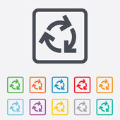 Recycling sign icon. Reuse or reduce symbol. — Stock Vector