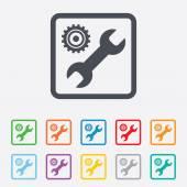 Repair tool sign icon. Service symbol. — Vector de stock