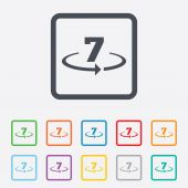Return of goods within 7 days sign icon. — Stock Vector