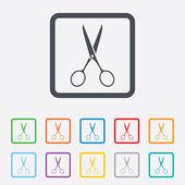 Scissors hairdresser sign icon. Tailor symbol. — Stock Vector