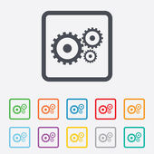 Cog settings sign icon. Cogwheel gear symbol. — Stock Vector