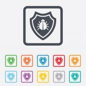 Shield sign icon. Virus protection symbol. — Stock Vector