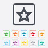 Star sign icon. Favorite button. Navigation — Stock Vector
