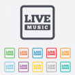Live music sign icon. Karaoke symbol. — Stock Vector #56670107