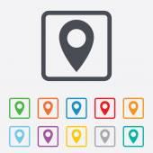 Map pointer icon. GPS location symbol. — Stockvector
