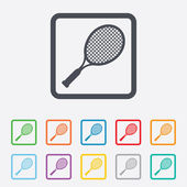 Tennis racket sign icon. Sport symbol. — Stock Vector