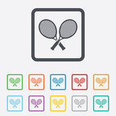 Tennis rackets sign icon. Sport symbol. — Stock Vector
