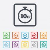 Timer 10s sign icon. Stopwatch symbol. — Stockvektor