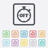 Timer off sign icon. Stopwatch symbol. — Vector de stock