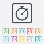 Timer sign icon. Stopwatch symbol. — Vetorial Stock