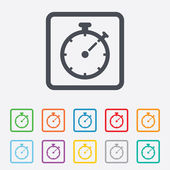 Timer sign icon. Stopwatch symbol. — Vector de stock