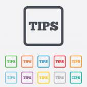 Tips sign icon. Service money symbol. — Stock Vector