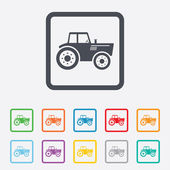 Tractor sign icon. Agricultural industry symbol. — Stock Vector
