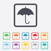 зонтик знак значок. символ защиты дождя. — Cтоковый вектор