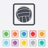Volleyball sign icon. Beach sport symbol. — Stok Vektör