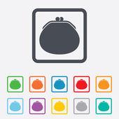 Wallet sign icon. Cash bag symbol. — Stock Vector
