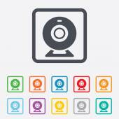Webcam sign icon. Web video chat symbol. — Stock Vector