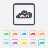 ücretsiz wi-fi işareti. wifi sembolü. kablosuz ağ. — Stok Vektör